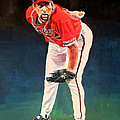 John Smoltz - Atlanta Braves by Michael  Pattison