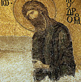 John The Baptist-detail Of Deesis Mosaic  Hagia Sophia-judgement Day by Urft Valley Art