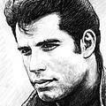 John Travolta Art Drawing Sketch Portrait by Kim Wang