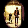 John Wayne And Jack Elam Publicity Photo Rio Lobo 1970 Old Tucson by David Lee Guss