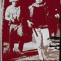 John Wayne And Robert Mitchum Publicity Photo El Dorado 1967 Old Tucson Arizona 1967-2012 by David Lee Guss