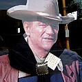 John Wayne Cardboard Cut-out In Store Window Tombstone  Arizona 2004 by David Lee Guss