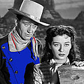John Wayne Gail Russell Angel And The Badman  Publicity Photo 1947-2012 by David Lee Guss