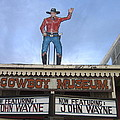 John Wayne Shuttered Cowboy Museum Close-up Tombstone Arizona 2004 by David Lee Guss