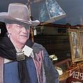 John Wayne Tall In The Saddle Homage 1944 Cardboard Cut-out  Tombstone Arizona 2004 by David Lee Guss