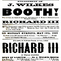 John Wilkes Booth Playbill by Charlie Ross