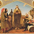 John Wycliffe Reading His Translation Of The Bible To John Of Gaunt by Philip Ralley