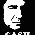 Johnny Cash Black And White Pop Art by David G Paul