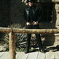 Johnny Cash Gunfighter Hitching Post Old Tucson Arizona 1971 by David Lee Guss