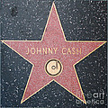 Johnny Cash - Hollywood Walk Of Fame Star by Gregory Dyer