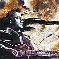 Johnny Cash Original Painting Print by Ryan Rock Artist