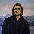 Johnny Cash Painting by Paul Meijering