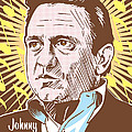 Johnny Cash Pop Art by Jim Zahniser
