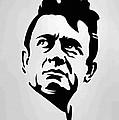 Johnny Cash Poster Art Portrait by Florian Rodarte