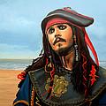 Johnny Depp As Jack Sparrow by Paul Meijering