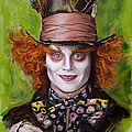 Johnny Depp As Mad Hatter by Melanie D