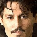 Johnny Depp Portrait by Samuel Majcen