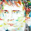 Johnny Rotten - Watercolor Portrait by Fabrizio Cassetta