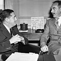 Johnson And Dean Acheson Talk by Underwood Archives