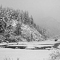 Johnson Creek In Winter -  141228a-459 by Albert Seger