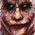 Joker - Face II by Rachel Scott
