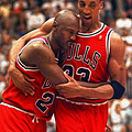 Jordan And Pippen by Paint Splat