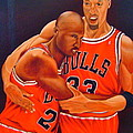 Jordan And Pippen by Yechiel Abramov