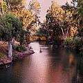 Jordan River At Dusk by Lawrence Berke