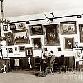 Joseph Kurtz Oliver Artist In His Studio Monterey Circa 1905 by California Views Archives Mr Pat Hathaway Archives