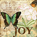 Joy And Butterflies by Jean Plout