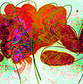 Joy Flower Abstract by Ann Powell