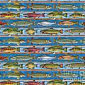 Jqw Fish Row Pillow by JQ Licensing