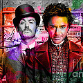 Jude Law And Robert Downey Jr by Marvin Blaine