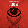 Judges Books Of The Bible Series Old Testament Minimal Poster Art Number 7 by Design Turnpike