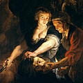 Judith With The Head Of Holofernes by Peter Paul Rubens