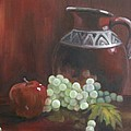 Jug With Frosty Grapes by Ellen Ebert