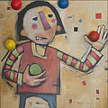 Juggler With Balls  by Tim Nyberg