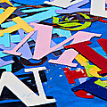 Jumble Of Letters by Art Block Collections