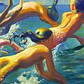 Jumping Mermaids by Isa Maria