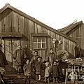 Jung San Choy And Chinese Family Pescadero Village Pebble Beach California Circa 1895 by California Views Archives Mr Pat Hathaway Archives
