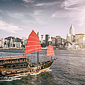 Junk Boat In Victoria Harbour by Yongyuan Dai