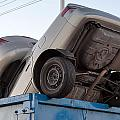 Junk Cars In Dumpster Cash For Clunkers by Gunter Nezhoda