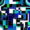 Just Colors And Lines Blue by Mary Bedy