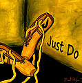 Just Do It - Yellow by Barbara St Jean