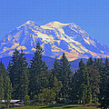 Just Over The Hill Mt. Rainier by Tom Janca