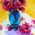 Just Past Bloom - Roses Still Life by Talya Johnson