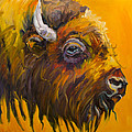 Just Sayin Bison by Diane Whitehead