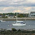 Just Waiting At Rye Harbor by Denyse Duhaime