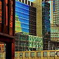 Juxtaposition Of Pittsburgh Buildings by Amy Cicconi