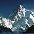 K2 At Dawn 8611 Meters Seen From Camp by Colin Monteath